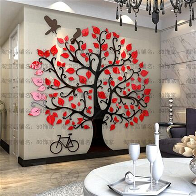 ⃝Three-dimensional wall stickers Tree Modern Home decor Living room ...