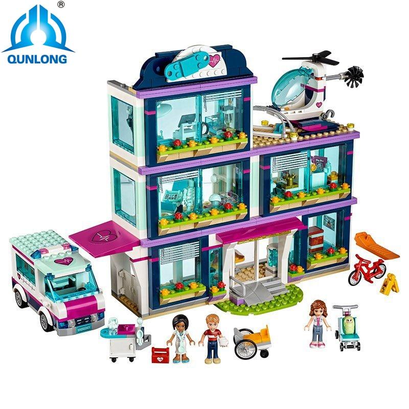 NEW Qunlong 932pcs Heartlake City Park Love Hospital Girl Friends Building Block Compatible LegoINGly Friends 41318 Brick Toy salt lake city park city provo