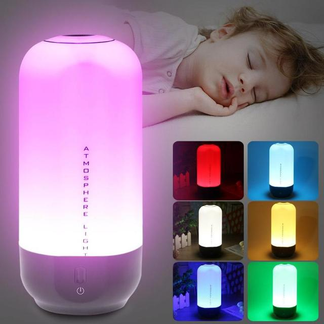 LED Table Lamp 5W Touch Sensor Control Dimmable RGB Color Change Rechargeable Smart Table Lamp Night Light