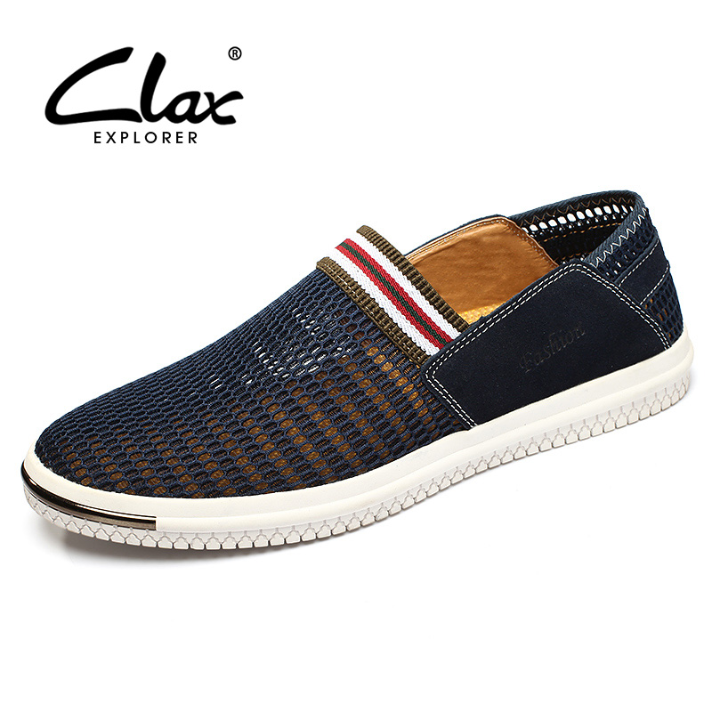 Clax Men Mesh Shoes Slip pada 2017 Summer Casual Shoe for Male - Kasut lelaki