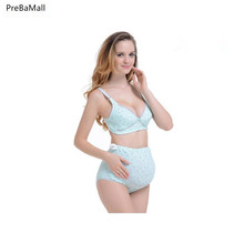 2PCS Breastfeeding  Maternity Bras Set For Pregnancy Women Cotton Nursing Underwear Breastfeding Soutien Gorge Allaitement E0070