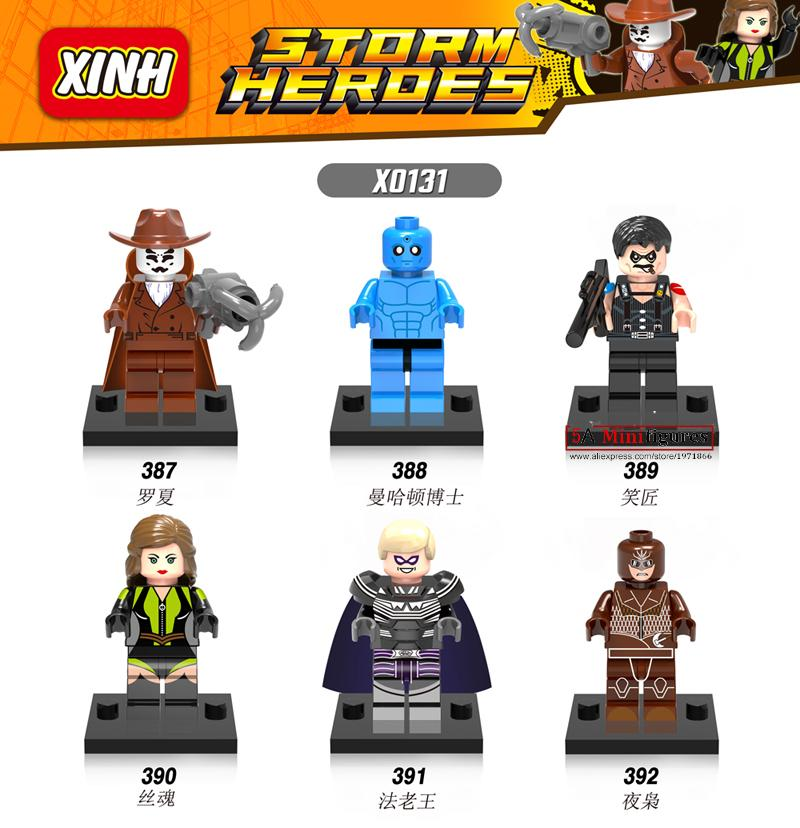 Wholesale X0131 60Pcs <font><b>Super</b></font> <font><b>Heroes</b></font> Marvel <font><b>DC</b></font> Comics Watchmen Minifigure bricks building blocks best Toys for Children Gift
