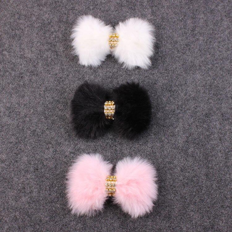 3 pcs Baru Lahir Kristal Batu Bando Busur Besar Bulu Kelinci Bando - Aksesori pakaian - Foto 4