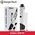 Original kanger dripbox starter kit e cigarro eletrônico com 7 ml capacidade do tanque e caixa de 60 w mod vape kangertech vaporizador