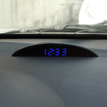 Car Electronic Clock Ornament Automotive Nightlight Mode Interior Temp