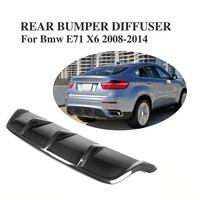 Carbon Fiber Rear Bumper Lip Diffuser Spoiler Fit For Bmw E71 X6 2008 2014