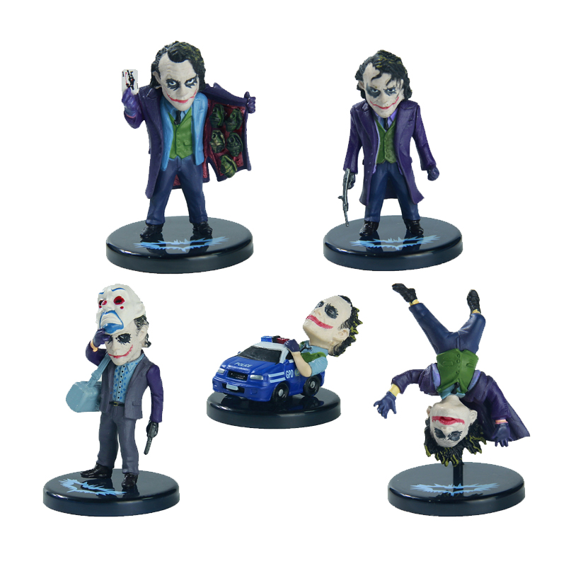 Batman The Joker PVC Action Figure Collection Toy Keychain or Model Toy 5pcs/set 2 about 5cm batman the joker playing poker ver pvc action figure collectible model toy 19cm