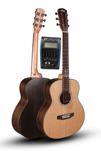 Professional 38 gsmini  Acoustic Guitars With 20mm cotton bag,Solid Spruce Top/Rosewood Body guitarra eletrica LCD Pickup