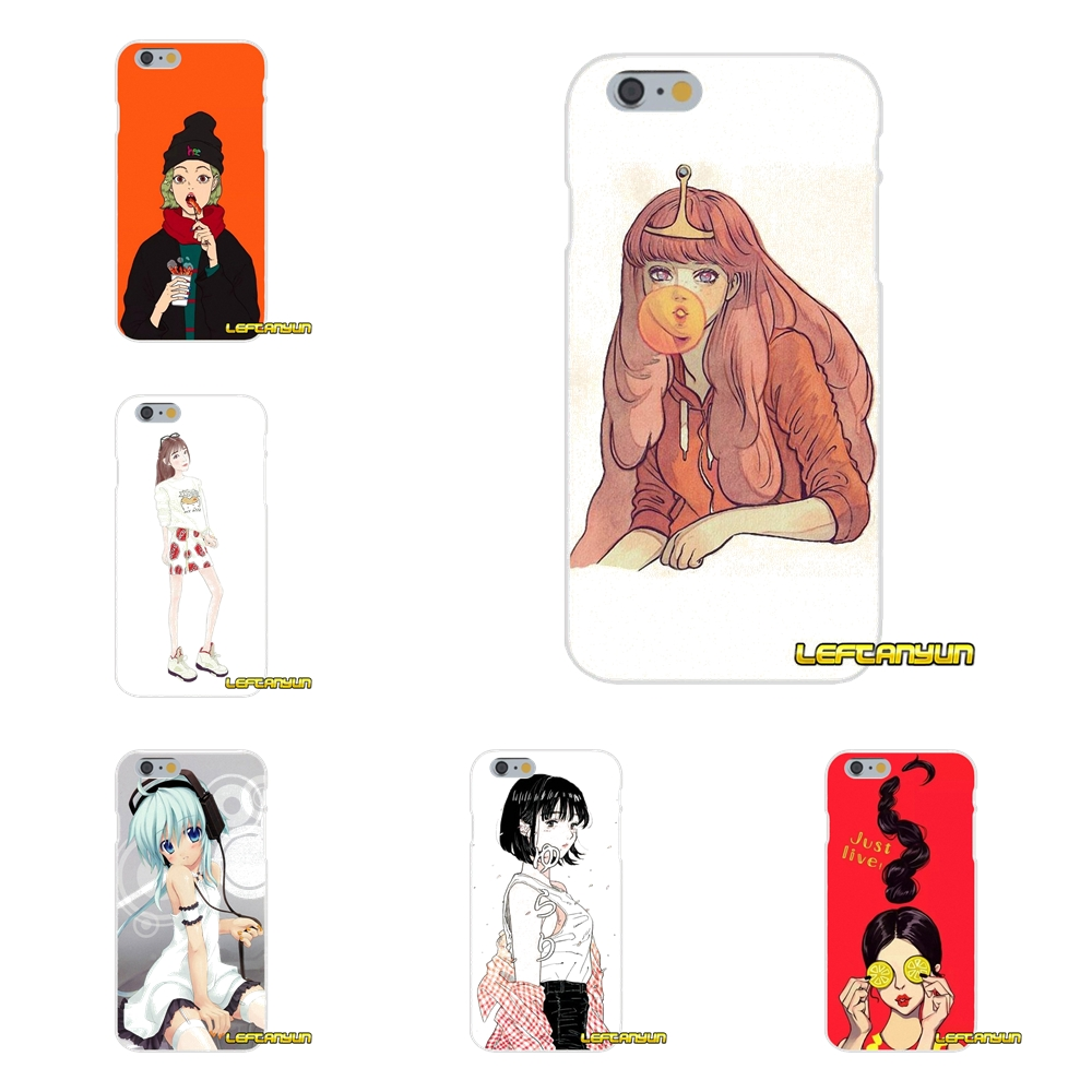 Fun cartoon funny ideas girl Slim Silicone phone Case For iPhone X 4 4S 5 5S 5C SE 6 6S 7 8 Plus
