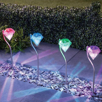 Diamond LED Solar Light Garden Decoration Lamps