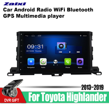 ZaiXi Android Car GPS Multimedia Player For Toyota Highlander 2013~2019 car Navigation radio Video Audio Bluetooth