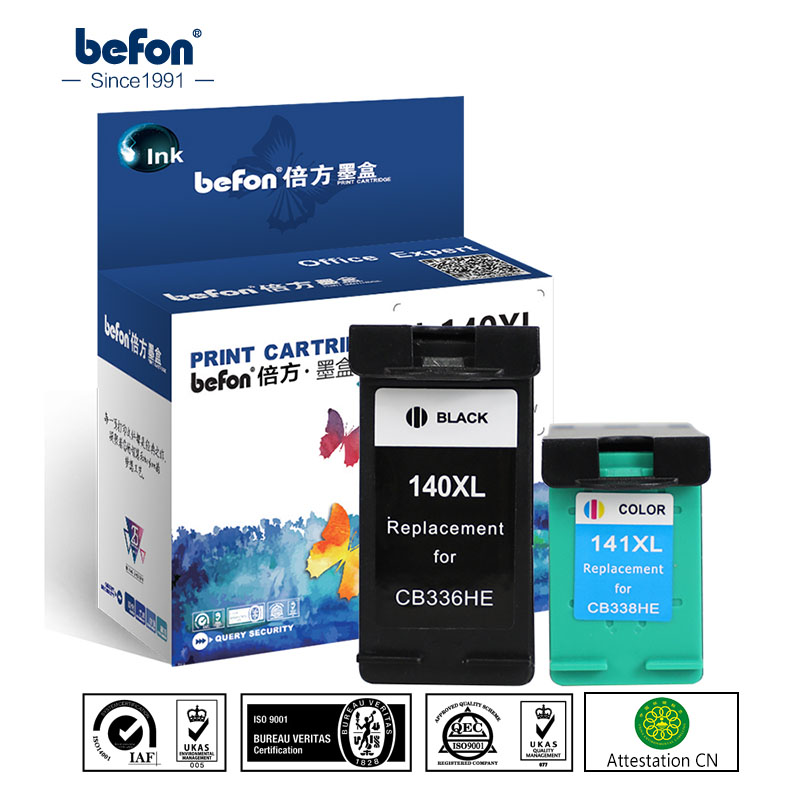 Befon Re-Manufactured 140XL 141XL Ink Cartridge Replacement For HP 140 141 HP140 For Photosmart C4583 C4283 C4483 C5283 D5363
