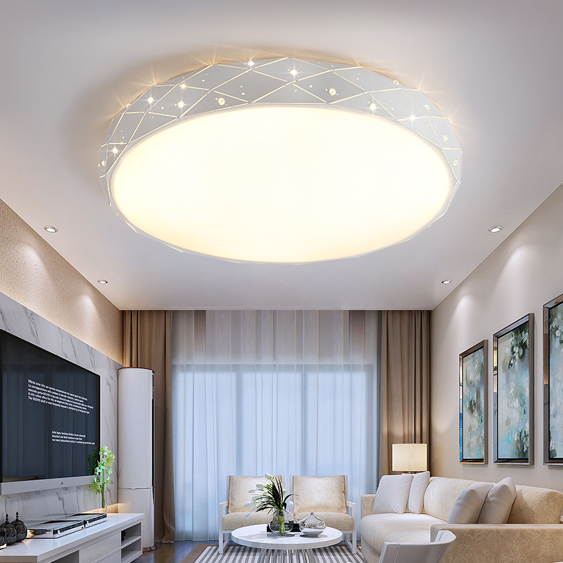 Simple Round LED personality Bedroom lamp warm romantic ceiling lamp LED simple living room Ceiling LightS wedding owner lamp ZA