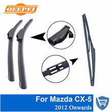 QEEPEI Front and Rear Wiper no Arm For Mazda CX-5 2012 R High Quality Natural Rubber Windshield 24 '' + 18 '' цена в Москве и Питере