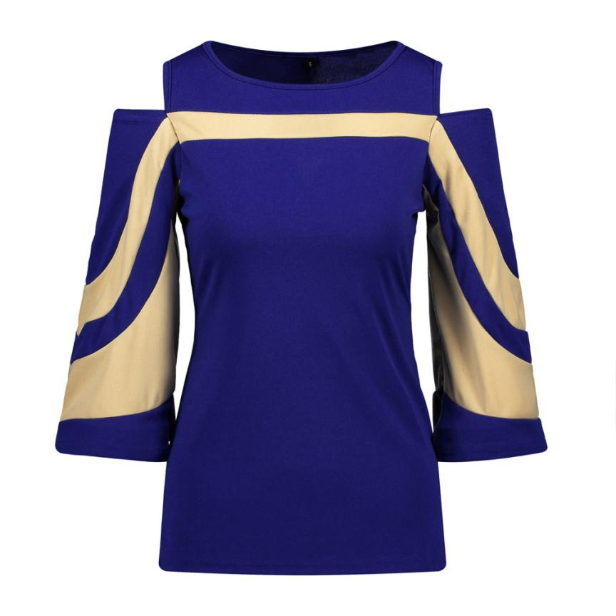JAYCOSIN 2018 The Newest Women Cold Shoulder Long Sleeve