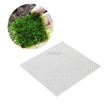 Aquarium Fish Tank Stainless Steel Wire Mesh Pad Plants Moss Net Decor 8x8cm New G09 Drop Ship(China)