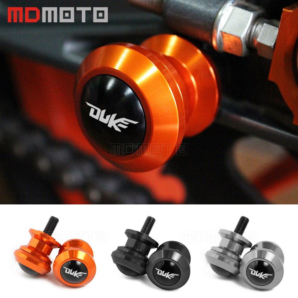 CNC Aluminum Motorcycle M10 Swingarm Slider Spools Screws Motorbike Accessories for 390 Duke,790 Duke,for EX300 Ninja 300 ABS,for RSV Mille Black