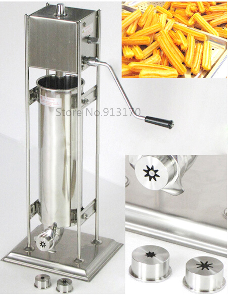 Churros Maker  Machine stainless steel 7L with 3 shape molds