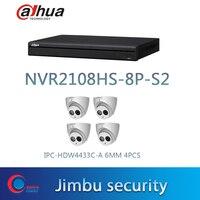 NVR2104HS P 4KS2 ve 4 adet HDBW4433C A6MM dome kamera H.265 H.264 4POE PORT|Gözetim Sistemi|Güvenlik ve Koruma -