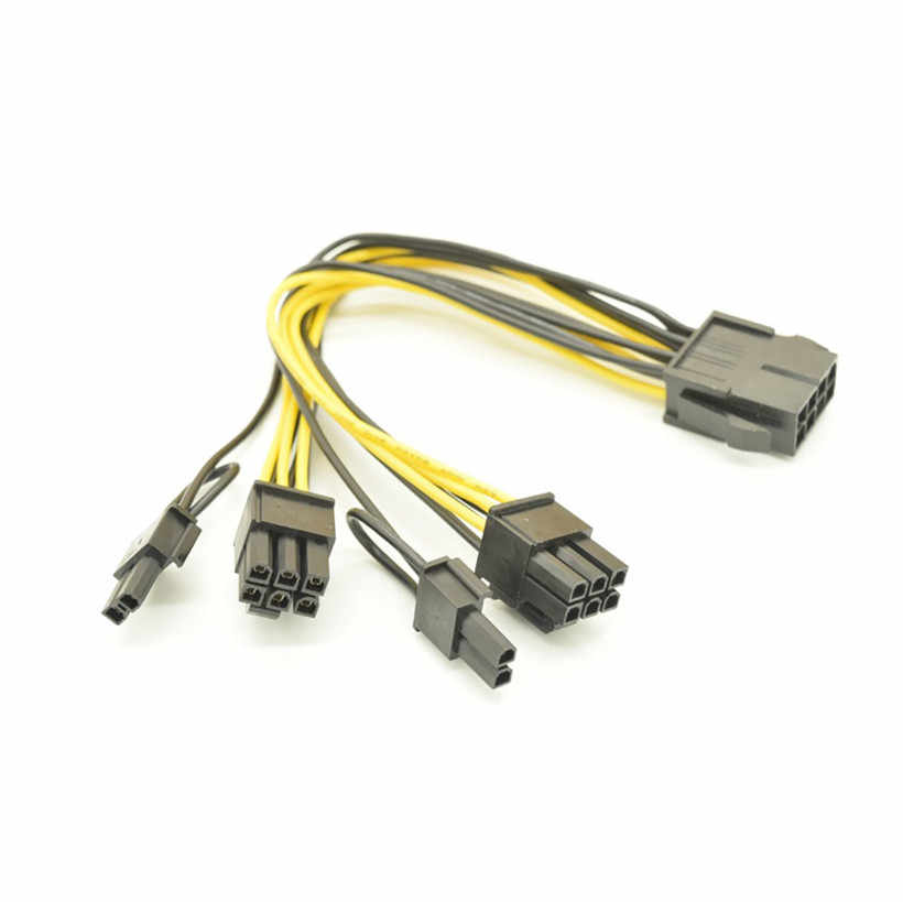 Zaawansowane 2018 akcesoria komputerowe NewCPU 8Pin, aby karta wideo podwójne PCI-E zasilacz kabel splittera