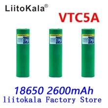 LiitoKala Max 40A Xung 60A Ban Đầu 3.6V Pin Sạc 18650 VTC5A 2600 MAh Cao Cấp Thoát Nước 40A 18650 Pin