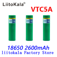 Liitokala Max 40A Pulse 60A Original 3.6V battery 18650 rechargeable VTC5A 2600mAh High Drain 40A 18650 battery