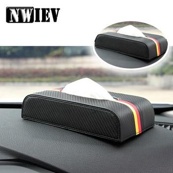 NWIEV de fibra de carbono de cajas de pañuelos para Auto toalla de papel para Suzuki Swift SX4 Mitsubishi Lancer Asx Opel Astra G J Insignia Zafira B