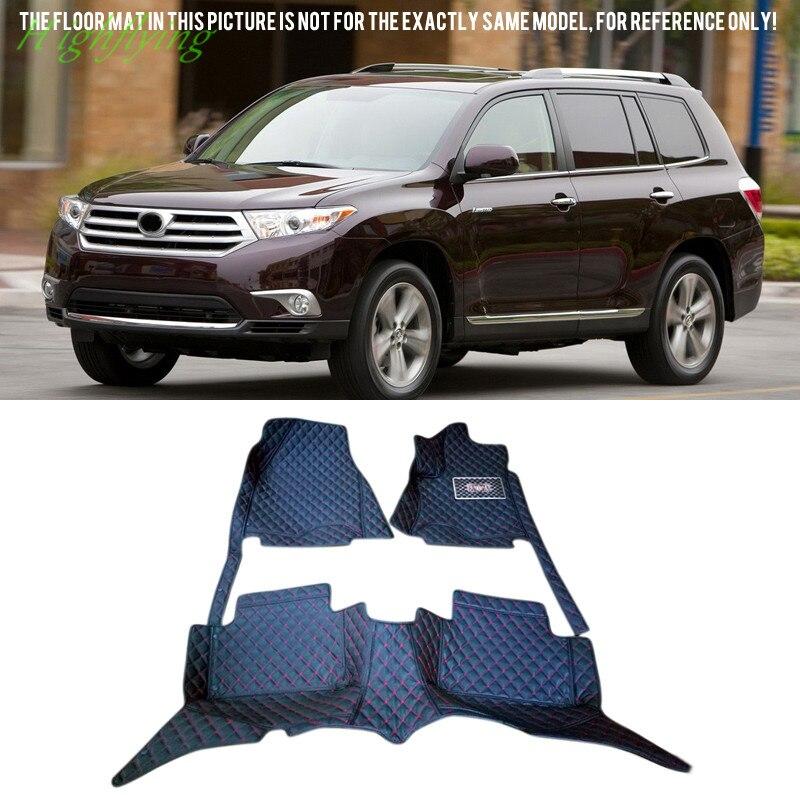 Left/Right Hand Driving Inner Floor Mats & Carpets Foot Pad Covers Kit For Toyota Highlander 5 Seats/7 Seats 2008-2016 inner floor mats