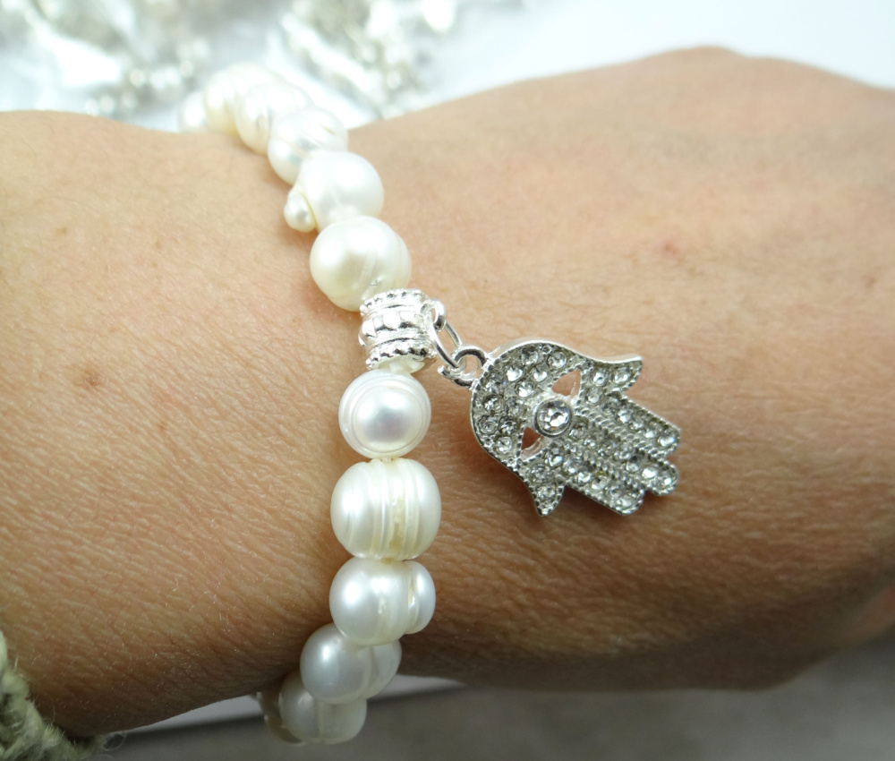 Beautiful Freshwater 100% Natural Real Pearl Bracelet White Pearls Women Bracelet Pearl Jewelry P120