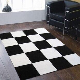 Mode salon canapé thé table tapis noir et blanc plaid tapis tapis tapis Alfombras Tapete tapis pour un modem salon tapis