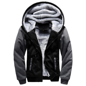 2020 New Men Hoodies Winter Warm Zipper Men Hoodies  1