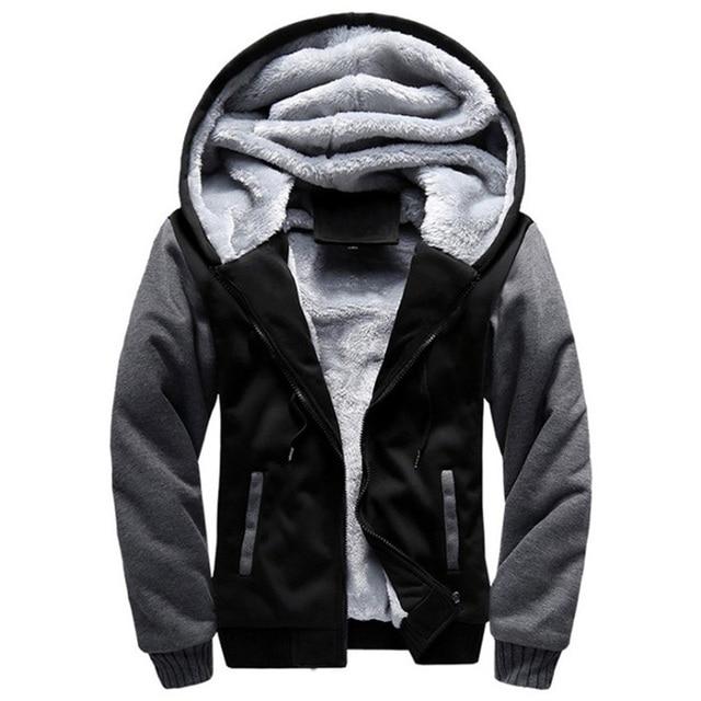 2020 New Men Hoodies Winter Warm Zipper Men Hoodies  1