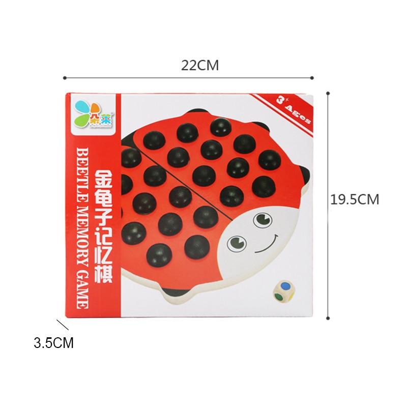 Baby Wooden Beetles Memory Chess Red Board 22 дана. - Дизайнерлер мен құрылыс ойыншықтары - фото 6