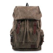אופנה גברים של תרמיל בציר בד כתף תיק תרמיל בית ספר תיק נסיעות תיק