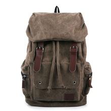 Degli uomini di modo Zaino della Tela di Canapa Dellannata del sacchetto di Spalla sacchetto di scuola Dello Zaino borsa da viaggio