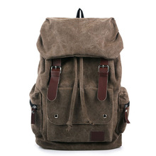 Moda męska plecak Vintage płócienna torba na ramię plecak tornister torba podróżna