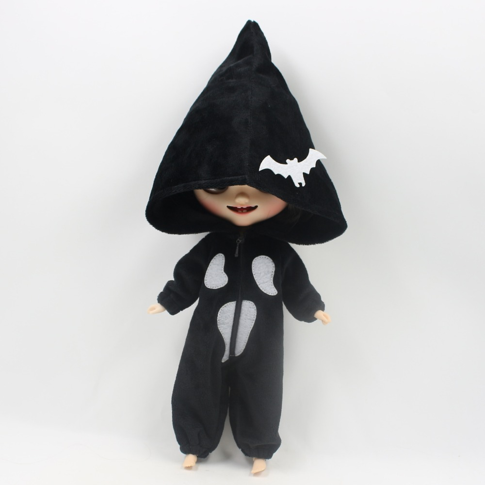 Neo Blythe Doll Halloween Bat Dress 6