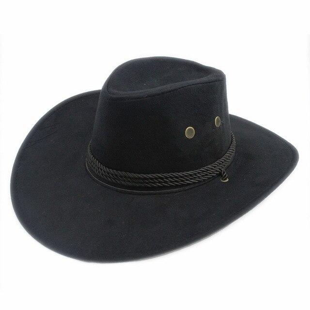 d77f4337d90f1e Men Women Bull Rider Winding fedora hat Cappelli Jazz Felt Floppy Wide Brim  Western Sombrero Hat Sunhat Panama Hat 7