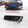 Car LED DRL Daytime Running Lights Kit for Honda Odyssey 2015 with Turn Singal Light Controller White Yellow Color auto Lamp DRL