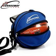 Универсальная спортивная сумка баскетбольный мяч футбольный рюкзак для волейбола Сумка круглая форма регулируемый плечевой ремень сумки для хранения