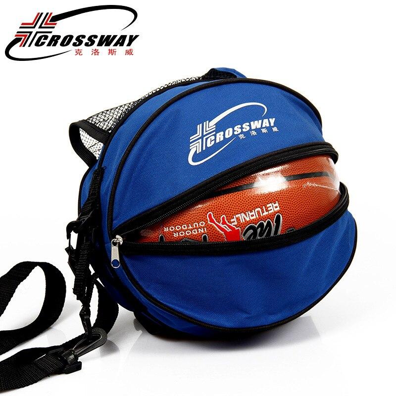 Универсальная спортивная сумка для баскетбола, рюкзак для волейбола, регулируемый плечевой ремень круглой формы, для хранения-0