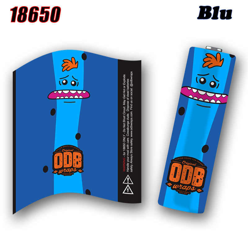 Electronic Cigarette Accessories ODB 18650 Battery Sticker 18650 Battery Wraps Protective Skin Pizza Series for MOD Vaporizer