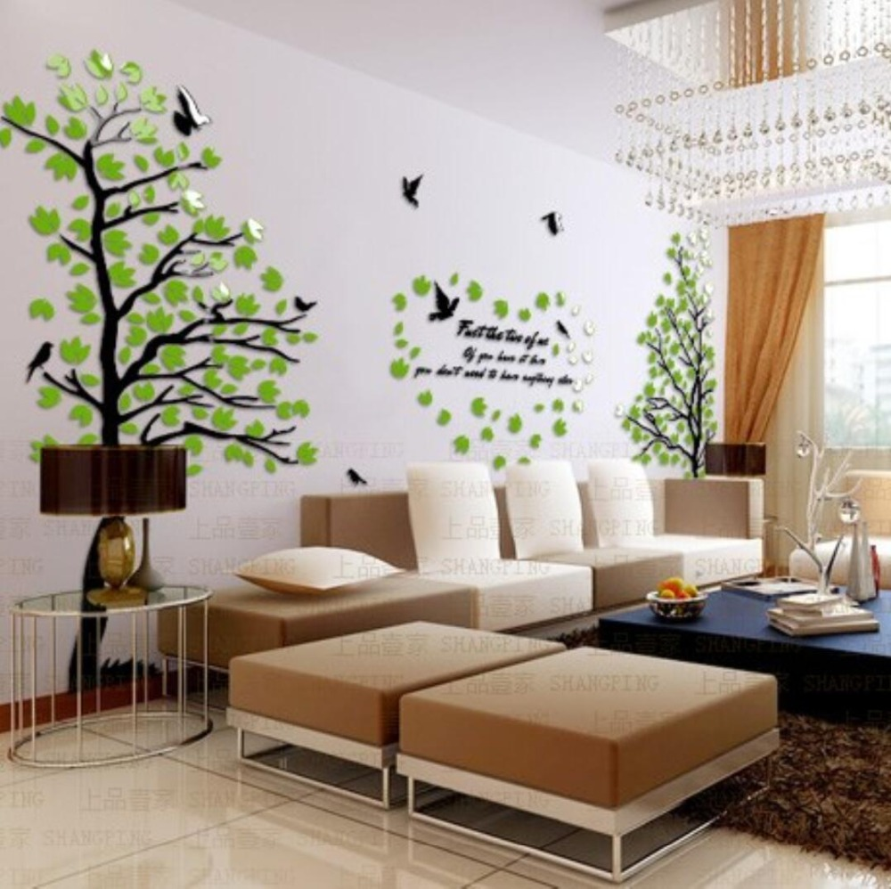 2018 New Sweet Doggy and Tree Design TV Background Wall Decorations ...