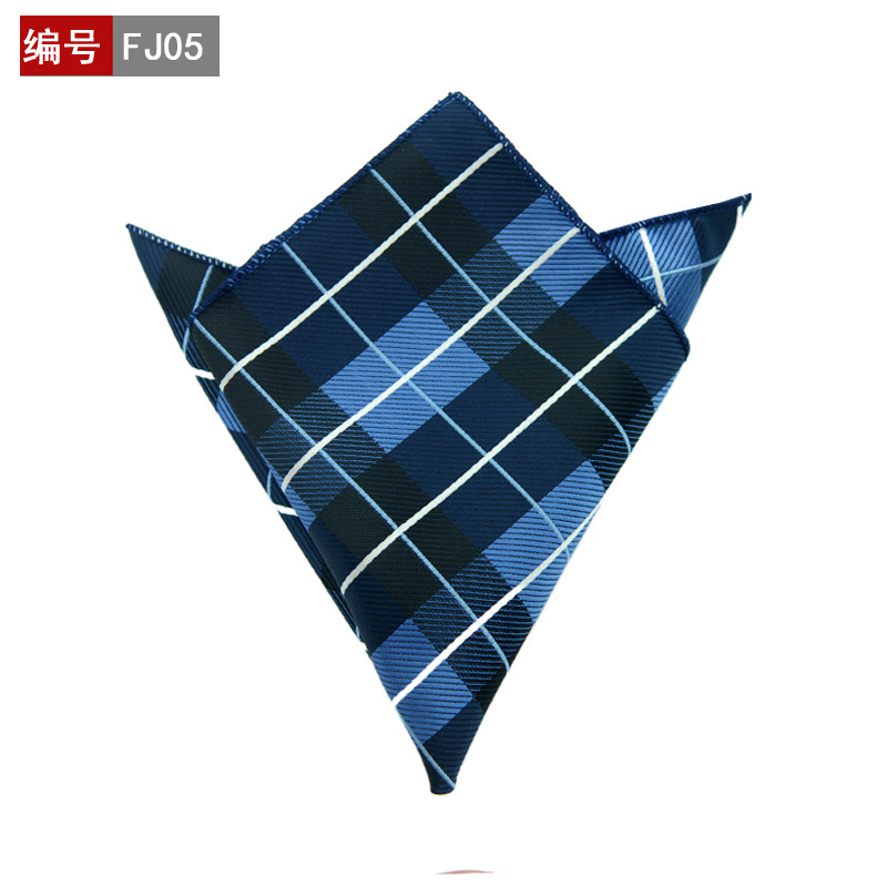 Sale The Stylish High-end Men's Fashion Pocket Square Scarves Accessories Formal Geometric Polyester Towel Handkerchief