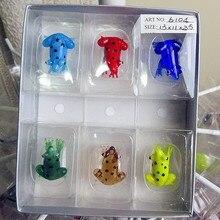 Custom Munuola glass art sculpture miniature frog aquarium hand blown decorative color cartoon animal ornaments