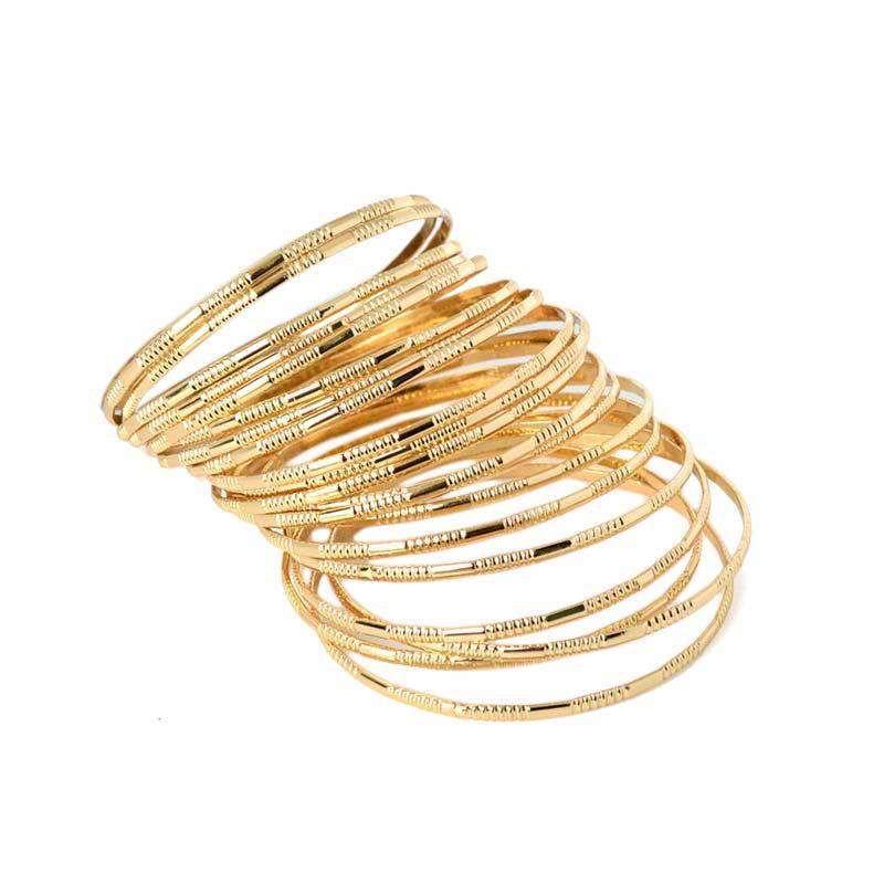 Newest Arrival Multilayer Gold Plated Luxury Brand Bangle Women Bijoux Fashion Jewelry Charm Bracelets Bangles Set Pulsera Oso