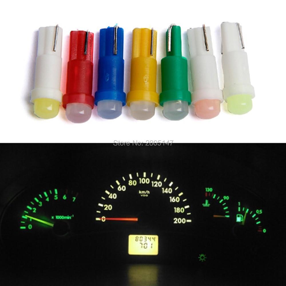 Авто 509T 10х Т5, В8.5д светодиодные лампы Автомобильные светодиодные Датчик приборной панели Клин свет luces светодиодов авто W3W П1.2ВТ спидометр лампы лампы автомобиль для укладки
