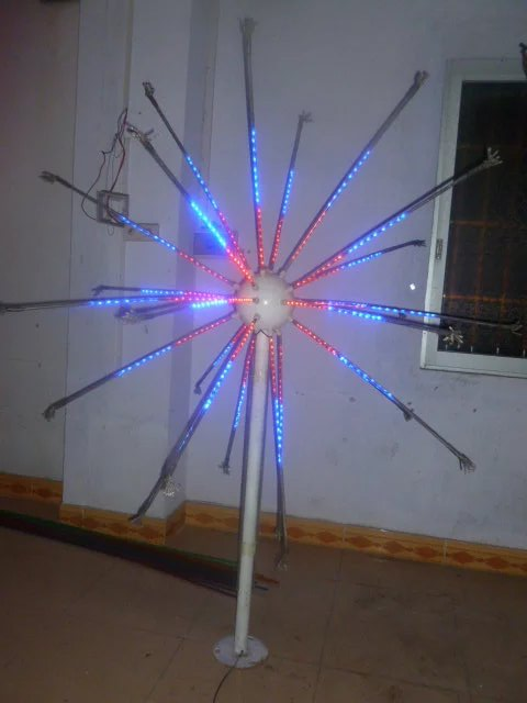 Free ship LED Fireworks Light Christmas Light 25 Branches 6.5ft 4 Colors Changing Outdoors
