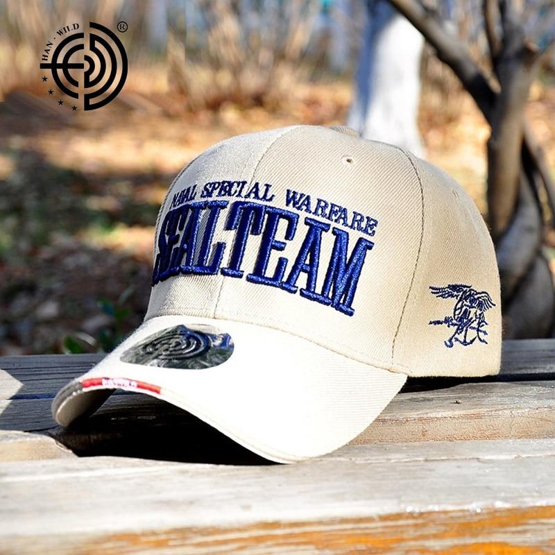 New Fashion Brand Äkta Nya Hot US Army Baseball Caps Navy SEALs Män - Kläder tillbehör