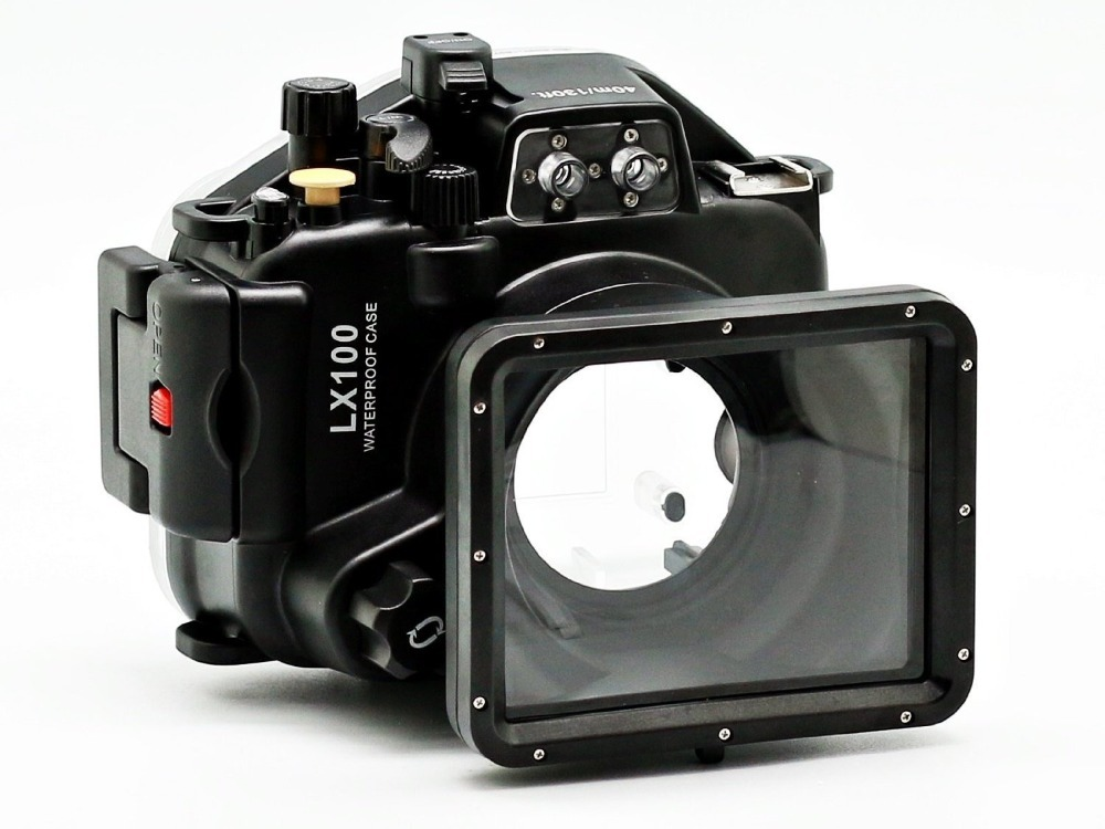 Mcoplus <font><b>LX100</b></font> 40m 130ft Waterproof Underwater Diving Housing Camera <font><b>Case</b></font> Bag for Panasonic <font><b>Lumix</b></font> <font><b>LX100</b></font> image